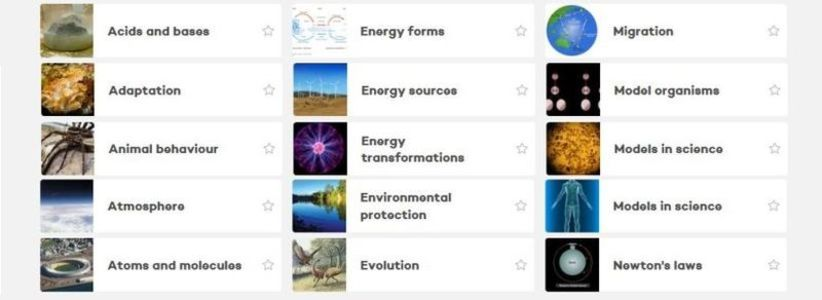 The new-look Science Learning Hub site - resources grouped by Concepts.
