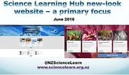 Science Learning Hub new-look website – a primary focus